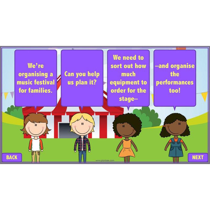 Revising Multiplication and Division: Festival Planners