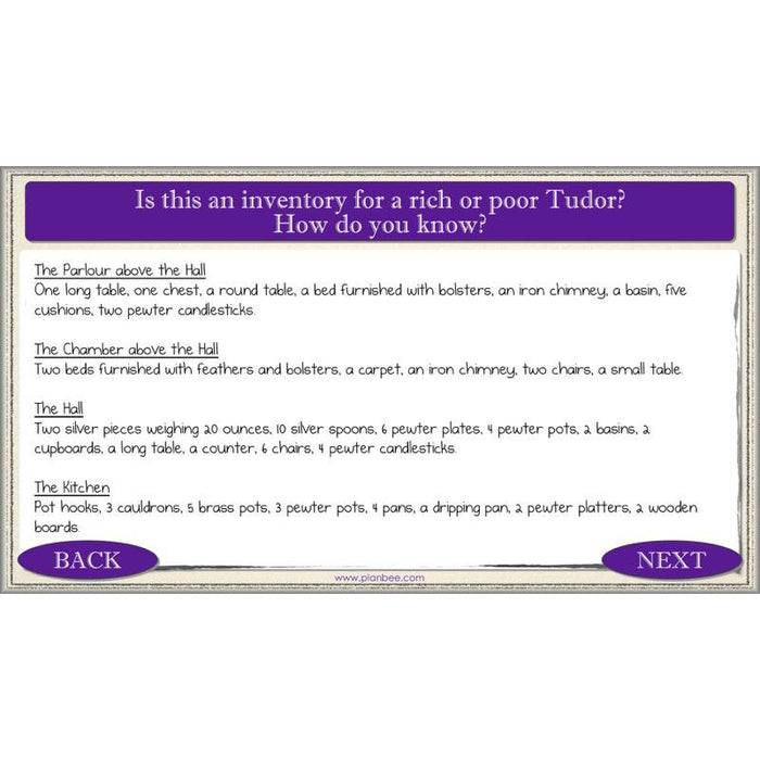 PlanBee Rich and Poor Tudors : Tudor History Lessons for KS2 - Year 3 & Year 4