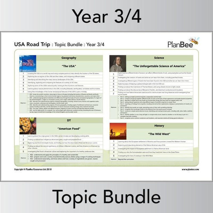 USA Road Trip Topic Bundle