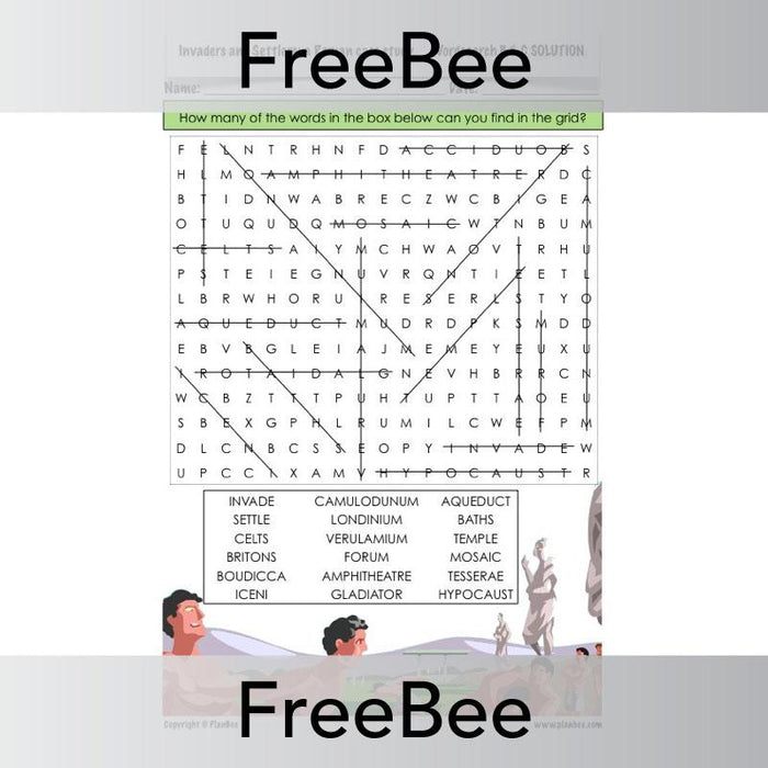 PlanBee Romans Word Search | PlanBee FreeBees