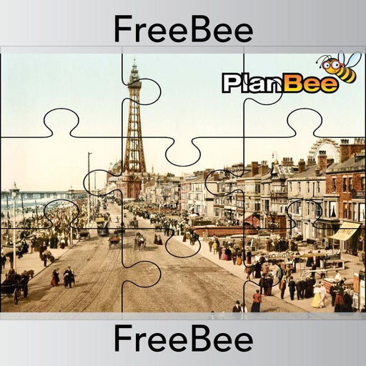 PlanBee FREE Seaside Holidays in the Past Reward Jigsaw by PlanBee
