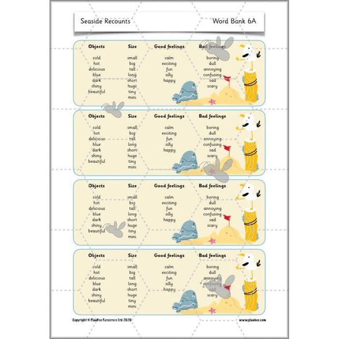 PlanBee Seaside KS1 Planning | Recounts | PlanBee English