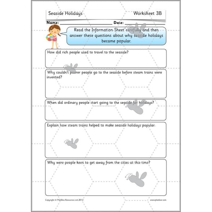 PlanBee Seaside Holidays in the Past KS1 Planning: Victorian Seaside Holidays