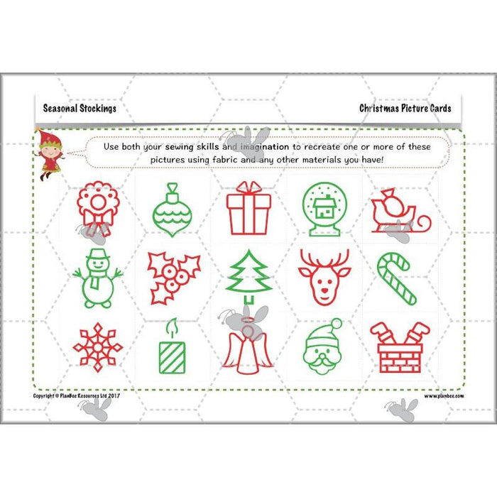 PlanBee Seasonal Stockings Christmas Sewing for Kids PlanBee