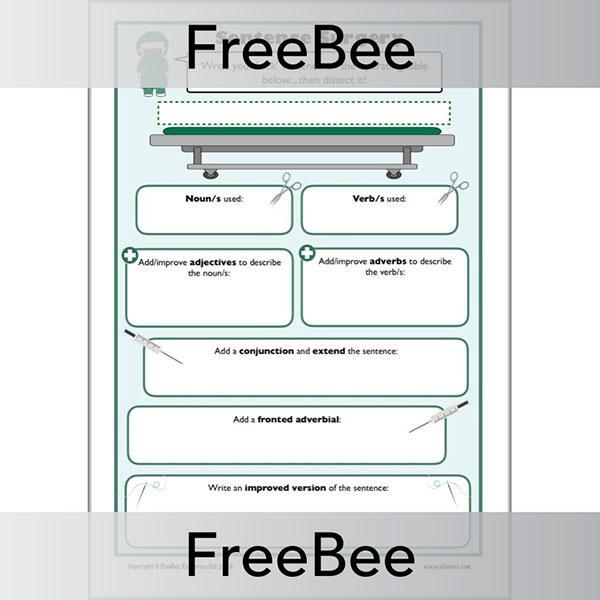 PlanBee Improving Sentences KS2 | Sentence Surgery Worksheet