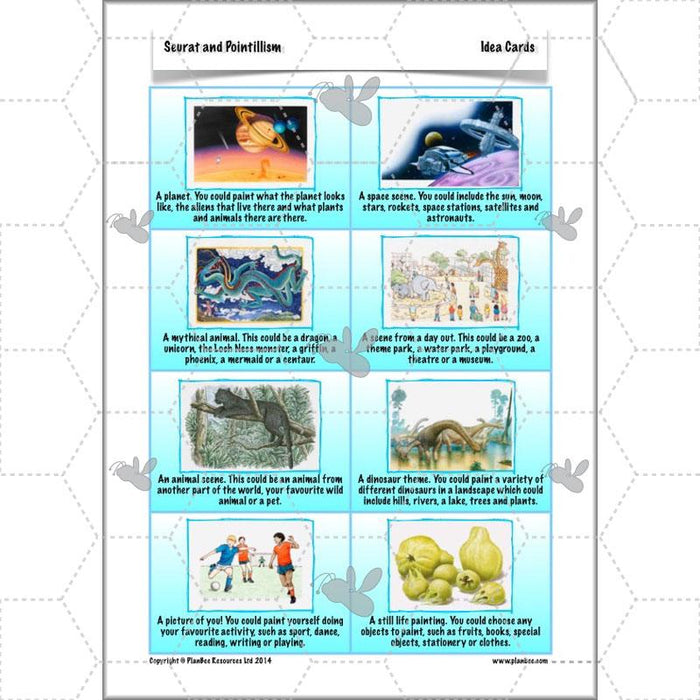 PlanBee Seurat and Pointillism KS2 Lesson Plans and Art Projects