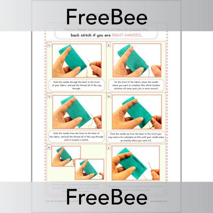 PlanBee FREE Basic Sewing Stitches for Kids pack by PlanBee