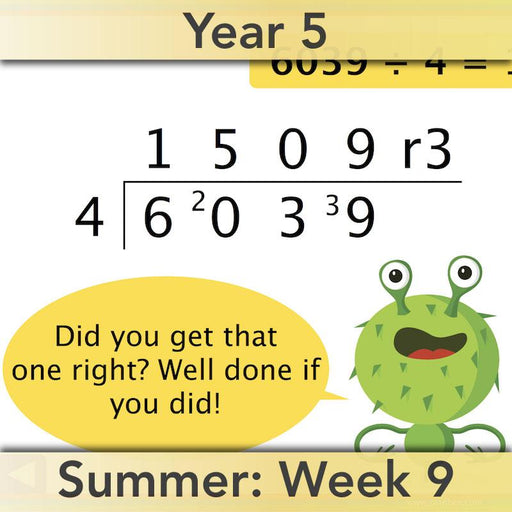 PlanBee Short Division - Year 5 Maths Planning and Resources from PlanBee