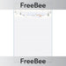 PlanBee Snowy Mountain Writing Frame | PlanBee FreeBees