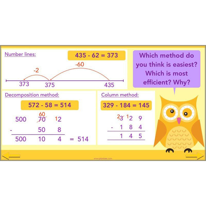 PlanBee Solving Subtraction: KS2 Maths Lesson Resources for Year 3