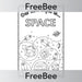 PlanBee Space Topic Cover | PlanBee FreeBees