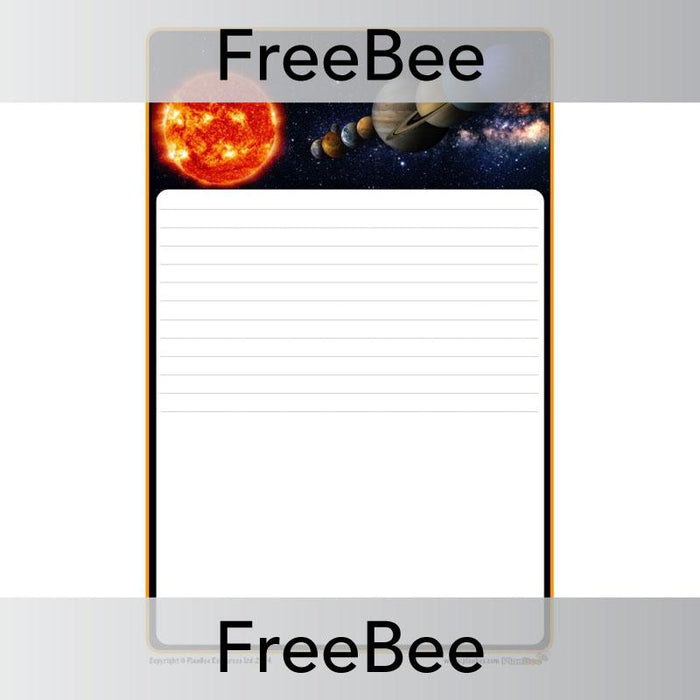 PlanBee Space Writing Frame | PlanBee FreeBees