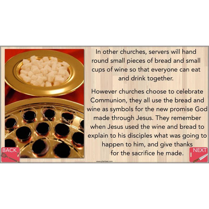 Special Foods: Communion