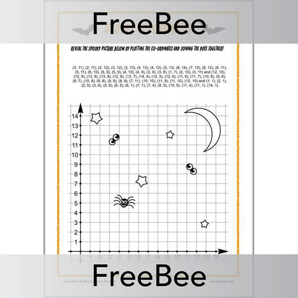 PlanBee Spooky Coordinates Activity Puzzle for KS2 by PlanBee