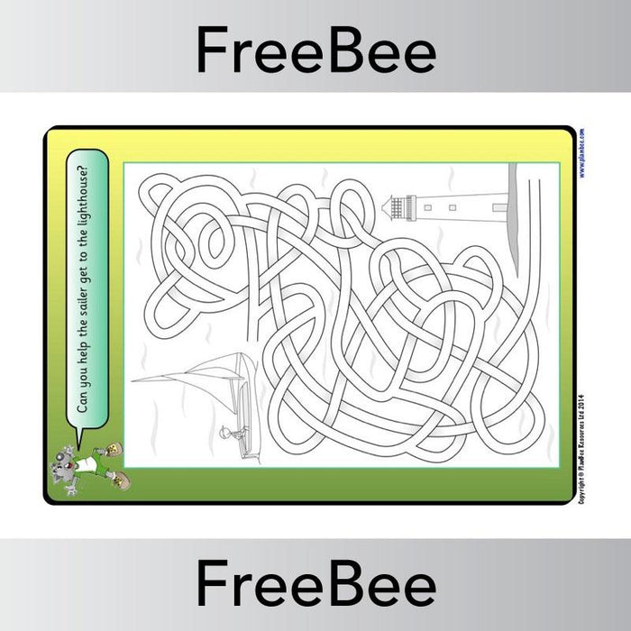 PlanBee Free Sports Mazes for Kids | PlanBee FreeBees