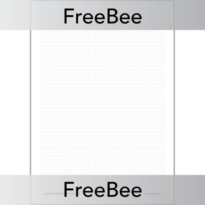 PlanBee Free downloadable squared paper printable resource | PlanBee