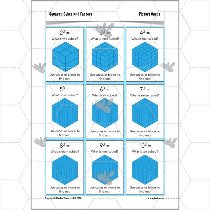 Squares, Cubes and Factors