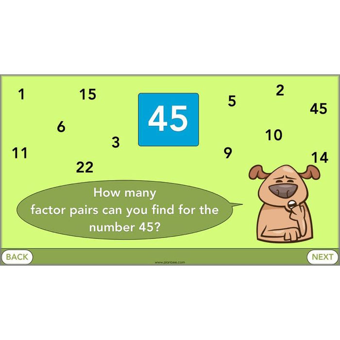 PlanBee Square Numbers, Cube Numbers and Factor Pairs | KS2 Year 5