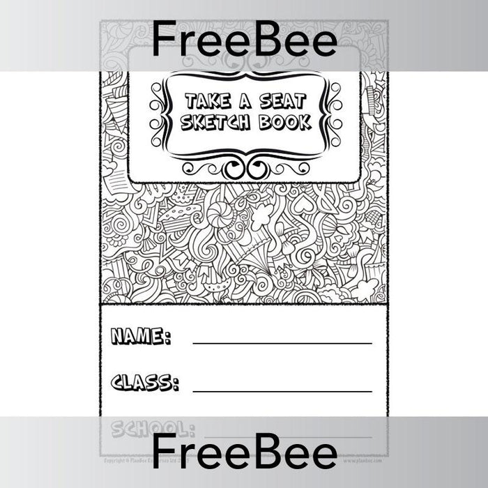 PlanBee Take a Seat Sketch Book Cover | PlanBee FreeBees