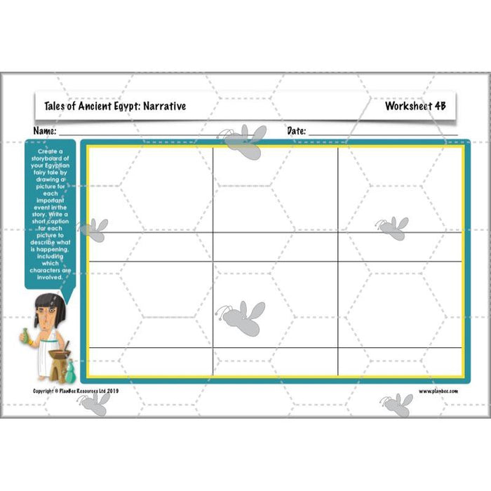 PlanBee Ancient Egypt English Planning Pack - Year 3 Writing Ideas