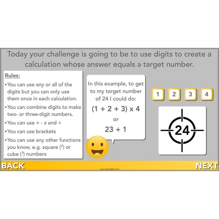 PlanBee Target Maths Year 6 Target Number Challenge Lesson | PlanBee