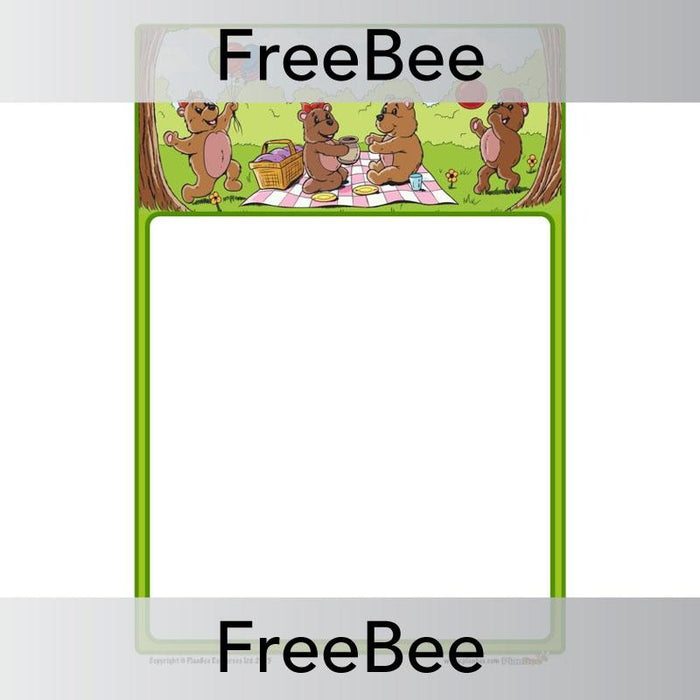 PlanBee Teddy Bear Writing Frame | Free PlanBee Resource
