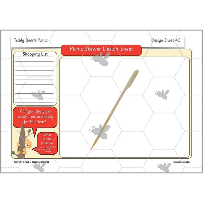 PlanBee Teddy Bears Picnic Ideas and DT Lessons by PlanBee