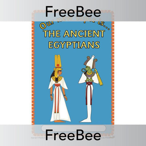 PlanBee Ancient Egyptians Topic Cover | PlanBee FreeBees
