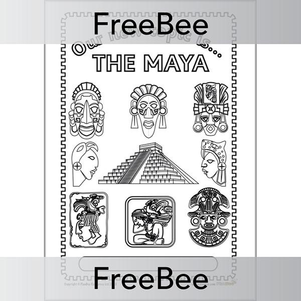 PlanBee The Mayas Topic Cover | PlanBee FreeBees