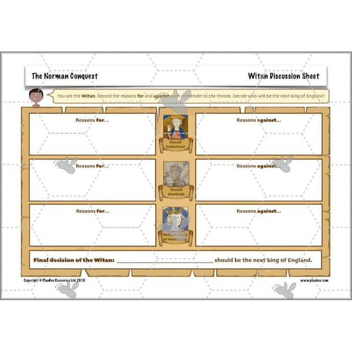 PlanBee The Normans KS2 History Lessons by PlanBee