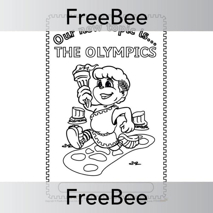 PlanBee The Olympics Topic Cover | PlanBee FreeBees