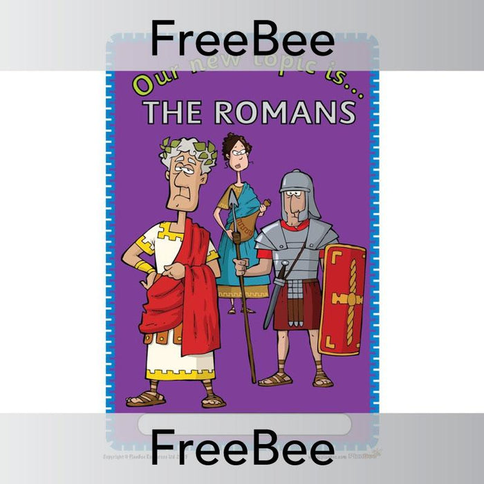 PlanBee The Romans Topic Cover | PlanBee FreeBees
