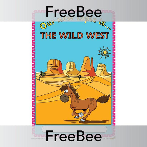 PlanBee The Wild West Topic Cover | PlanBee FreeBees