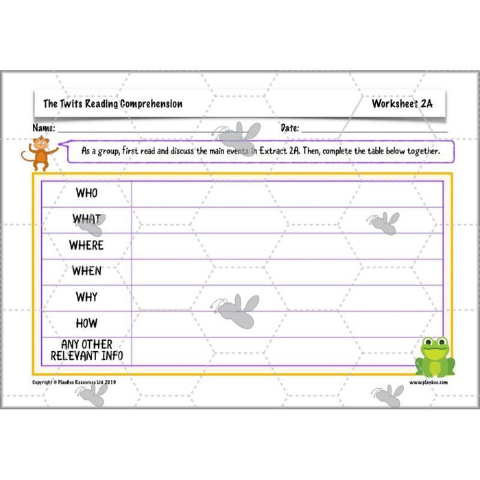 PlanBee The Twits Lesson Plans | KS2 English Planning for Year 4