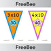 PlanBee Times Tables Bunting x10 | PlanBee FreeBees