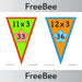 PlanBee Times Table Bunting x3 | PlanBee FreeBees