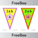 PlanBee Times Table Bunting x6 | PlanBee FreeBees