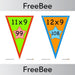 PlanBee Times Table Bunting x9 | PlanBee FreeBees