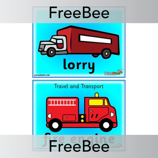 PlanBee Travel and Transport Word Cards | PlanBee FreeBees