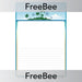 PlanBee Tropical Island Writing Frame | PlanBee FreeBees