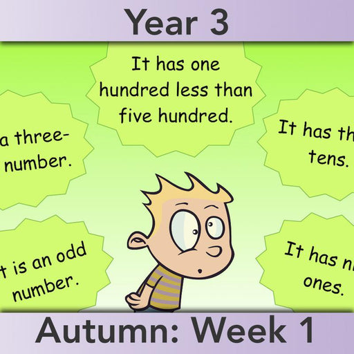 PlanBee Understanding Place Value: place value Year 3 Maths lessons