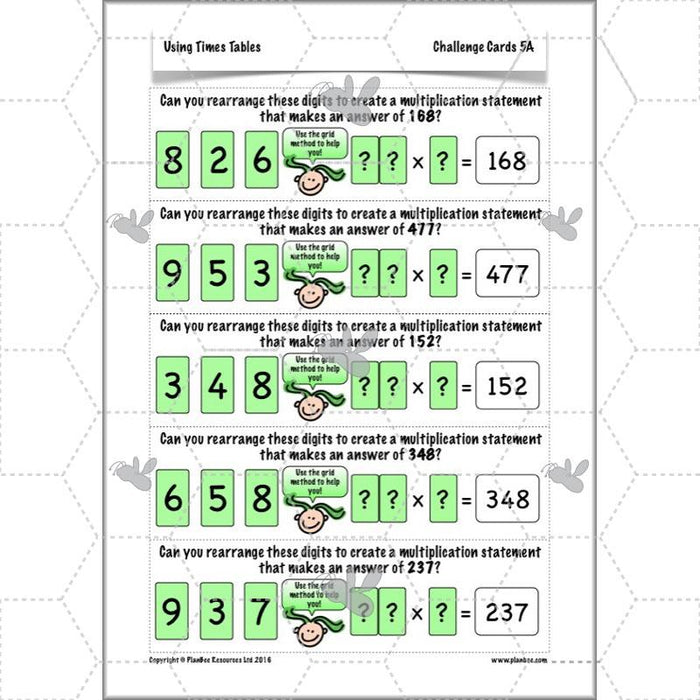 Using Times Tables: The Grid Method