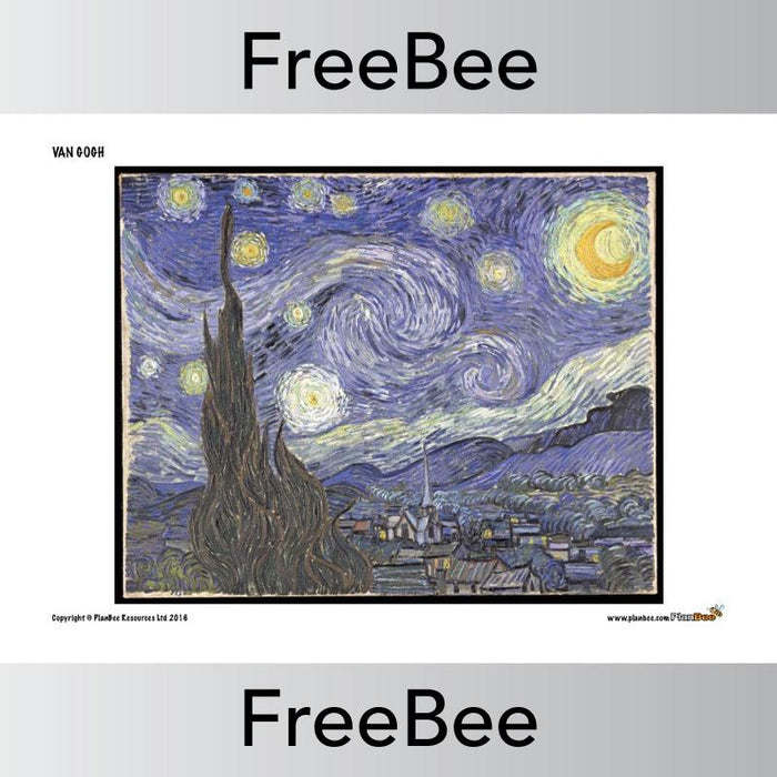 PlanBee Van Gogh Jigsaw Puzzle Pack | Free Resource by PlanBee
