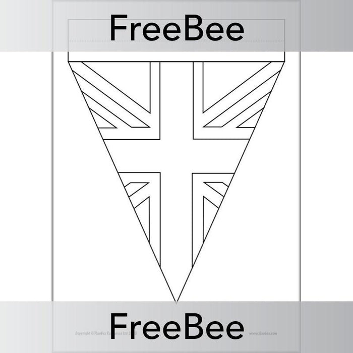 VE Day Bunting Template