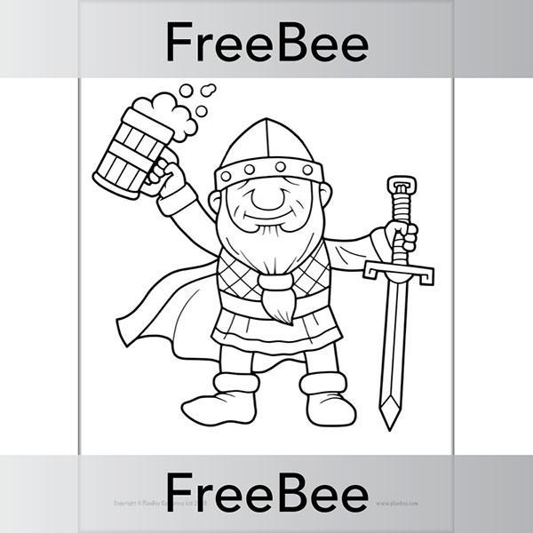Viking Colouring Pages