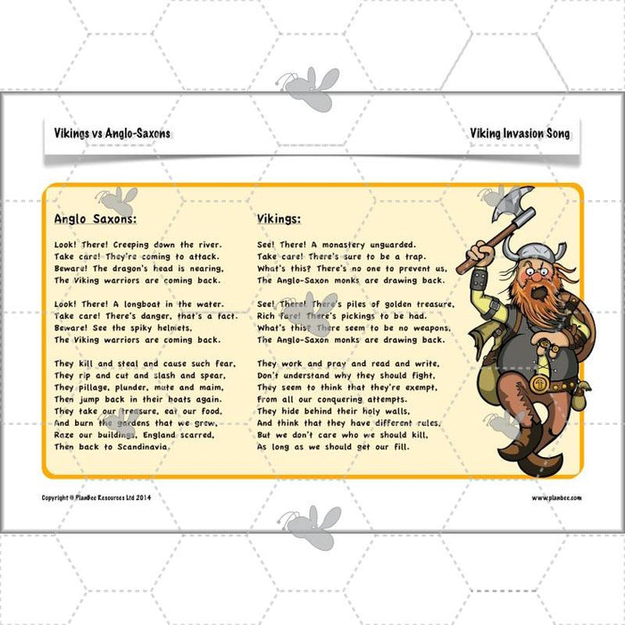 PlanBee Vikings and Anglo-Saxons KS2 Planning Pack | Vikings KS2 Year 5 Year 6