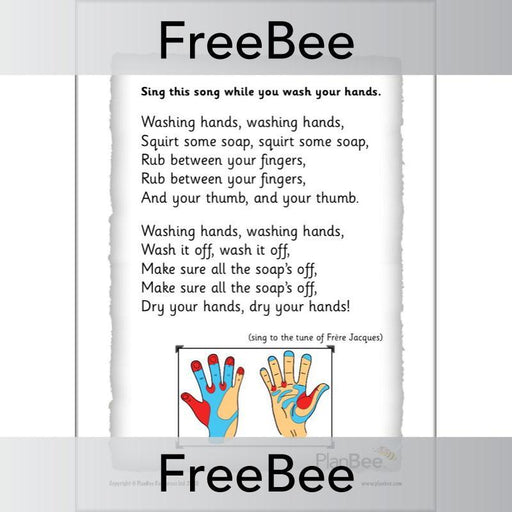 PlanBee Free How To Wash Your Hands Poster by PlanBee