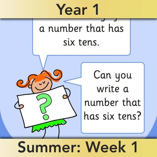 PlanBee Let's use numbers to 100 - Year 1 Maths resource pack