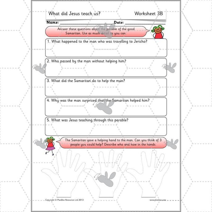 PlanBee What did Jesus teach us? - Christianity KS1 RE Lessons and Resources