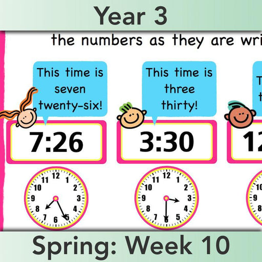 PlanBee Year 3 Time Planning | Plans, Slides and Worksheets
